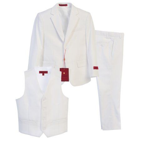 Gioberti Boy's Formal Suit Set, White