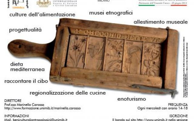 Bando quinta edizione Corso di Perfezionamento Beni Culturali Antropologici #postlaurea #bicocca #expo2015