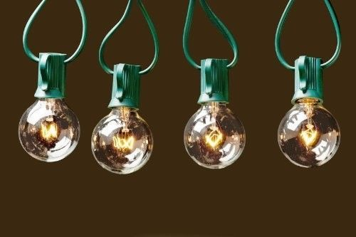 Outdoor-String-Lights-G40-Bulbs-25-ft-Connectable-Garden-Patio-Hanging-Green