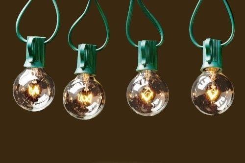 Outdoor-String-Lights-G40-Bulbs-25-ft-Connectable-Garden-Patio-Hanging-Green