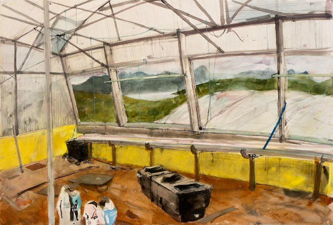 Kate Downie - Artist - Gallery of Recent Work 'The Citrus House'.