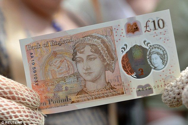 Jane Austen Releva A Charles Darwin En Los Billetes De Diez Libras Jane Austen Billetes Libra