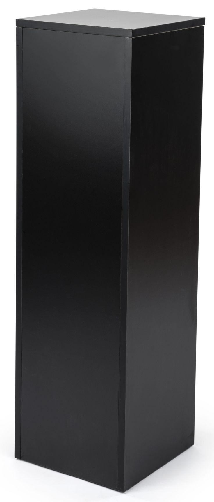 42h Portable Pedestal For Floor 12 5 Square Top Collapsible Melamine Black Display Pedestal Simple Storage Black Floor