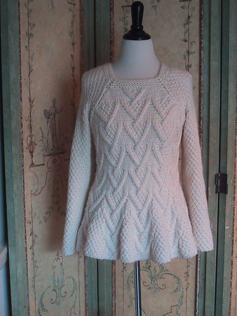 Looks warm. FREE knitting pattern for pullover sweater tunic with flared hem Rambler | More tunic sweater knitting patterns at http://intheloopknitting.com/tunic-and-dress-knitting-patterns/
