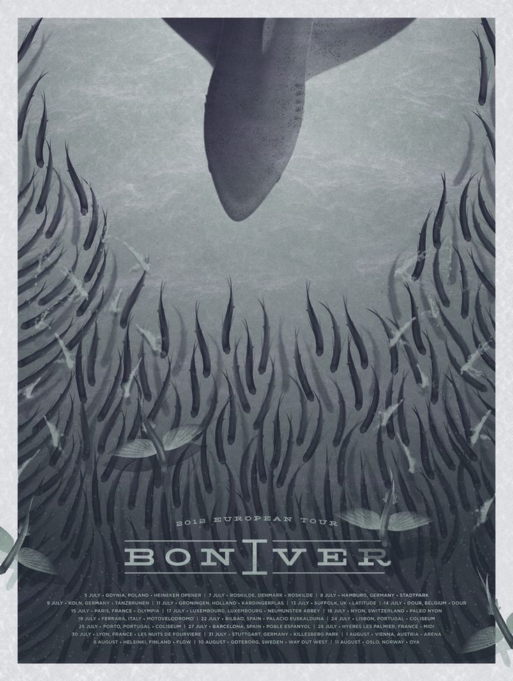 bon iver poster by dkng