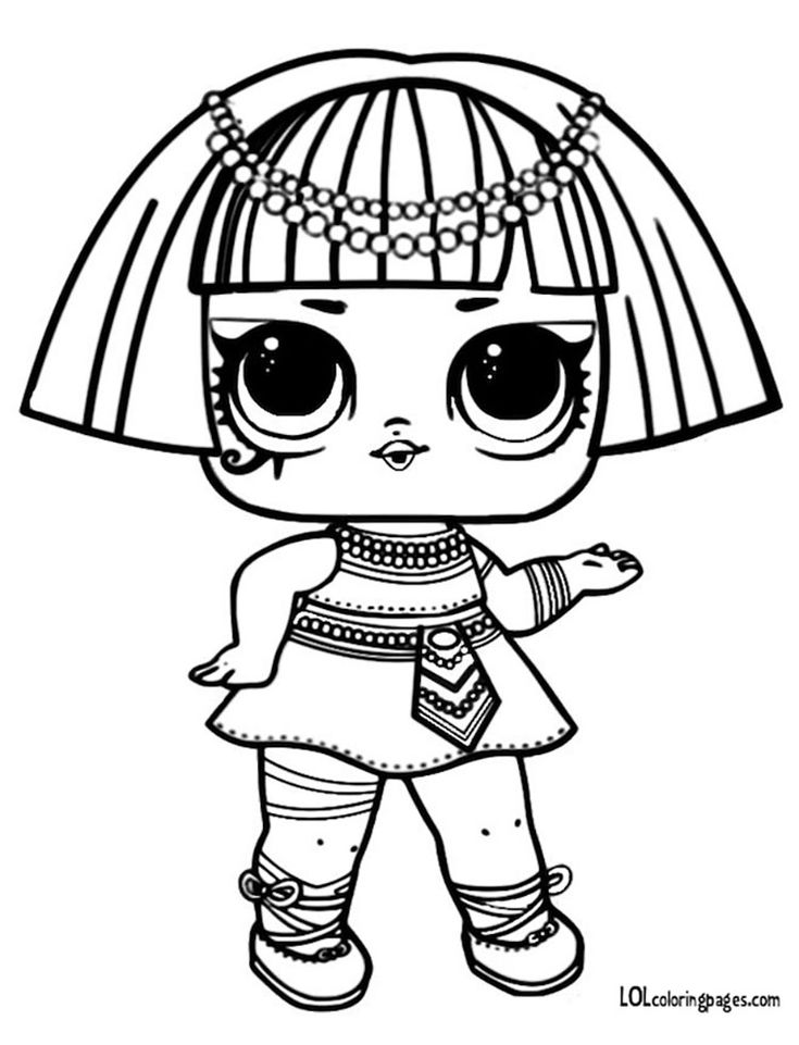 Pharaoh Series 3 L.O.L Surprise Doll Coloring Page