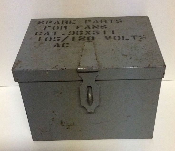 Antique Steel Box Storage Parts Latch Industrial Safe Strong Steampunk Chest