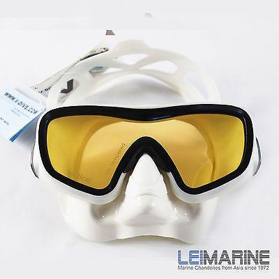 V.DIVE 1 UV Lens Vitro Mask M103W Scuba Diving Snorkeling Swimming Pearl White