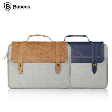 BASEUS Universal Vintage Soft PU Dropproof Handbag Protective Bag For Macbook Air Pro Laptop Tablet Sale - Banggood.com