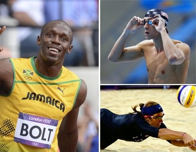 Usain Bolt makes his debut at the 2012 Games; Michael Phelps makes his exit.