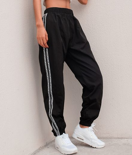 Black Harajuku Autumn Winter Trousers Sweatpants