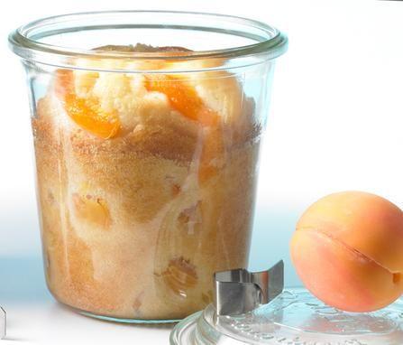 Kleiner Kuchen mit Aprikosen - im Glas gebacken