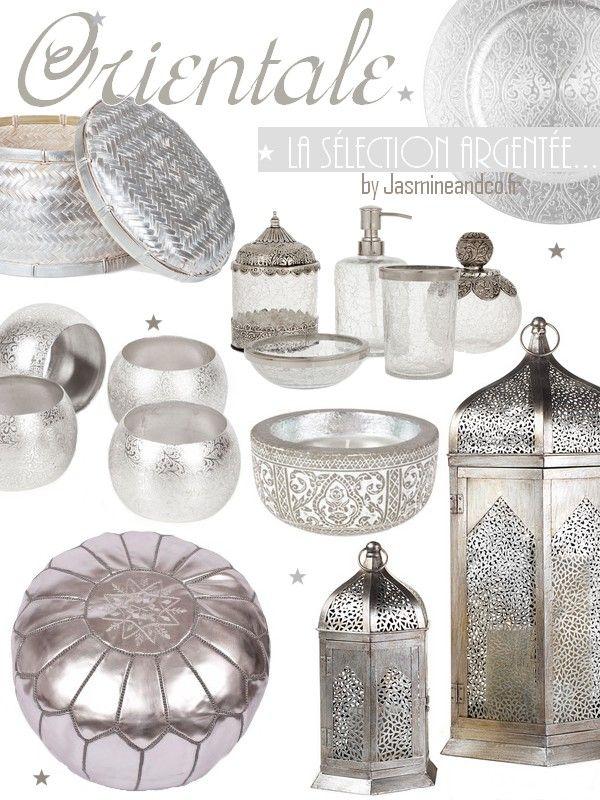 D coration orientale marocaine argent architecture deco pinterest - Decor oriental salon ...
