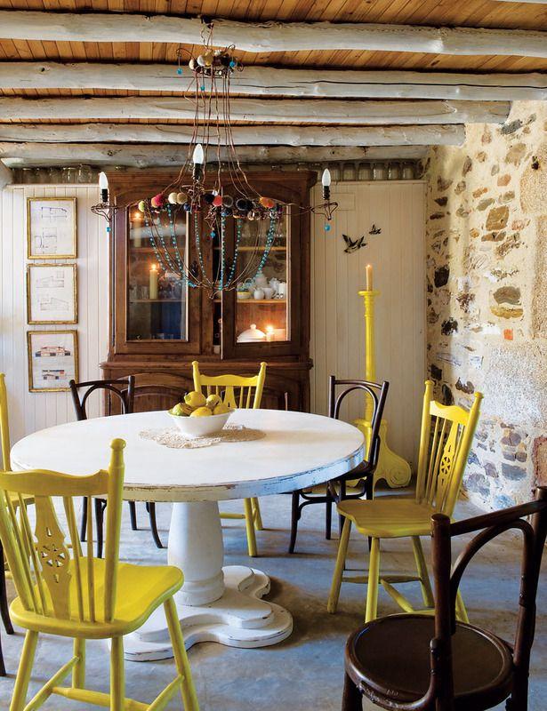 M s de 1000 ideas sobre sillas de comedor de color - Decoracion sillas comedor ...