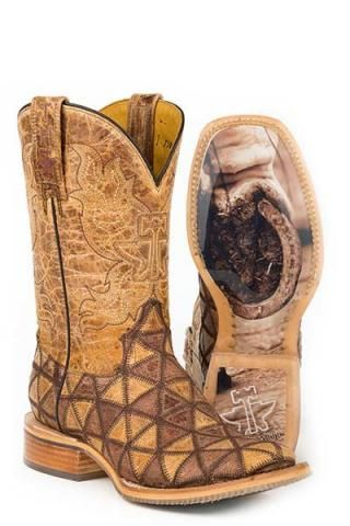 Tin Haul Don't Be Square Conquer The World Sole Boots Urban Western Wear