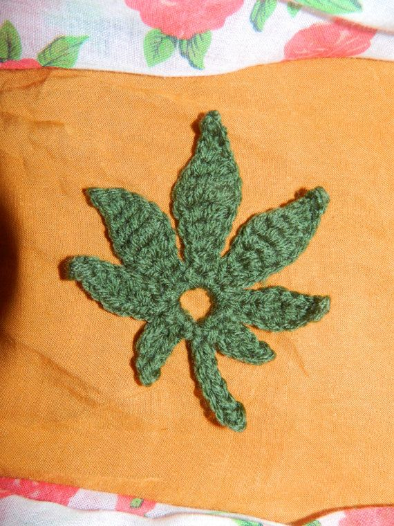 Pot Leaf Knitting Pattern : 11 best images about Pot leaf flowers on Pinterest Winter accessories, Knit...
