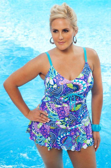 swimwear plus swimsuits swim bikini mini ladies curvy swimsuit piece wear chic prints santee suits bathing bottoms swimming always every1