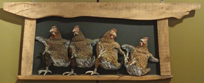 Poultry Not in Motion | Raku Fired Ceramic and Wood | 61x1m51cm | £900Image 36 of 46
