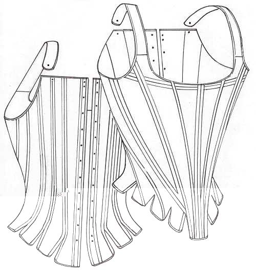 18th Century Half-boned Stays   for a Fashionable Shape by J.P. Ryan- a wonderful, functional pattern!