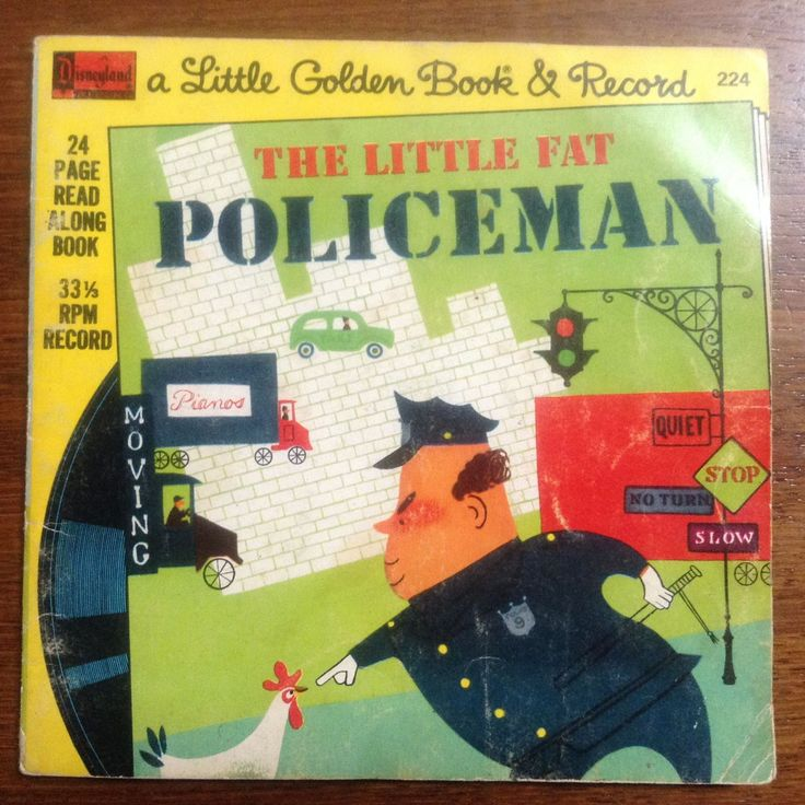 Little Golden Book & Record - The Little Fat Policeman - Disneyland Record Paperback – 1976 by weseatree on Etsy