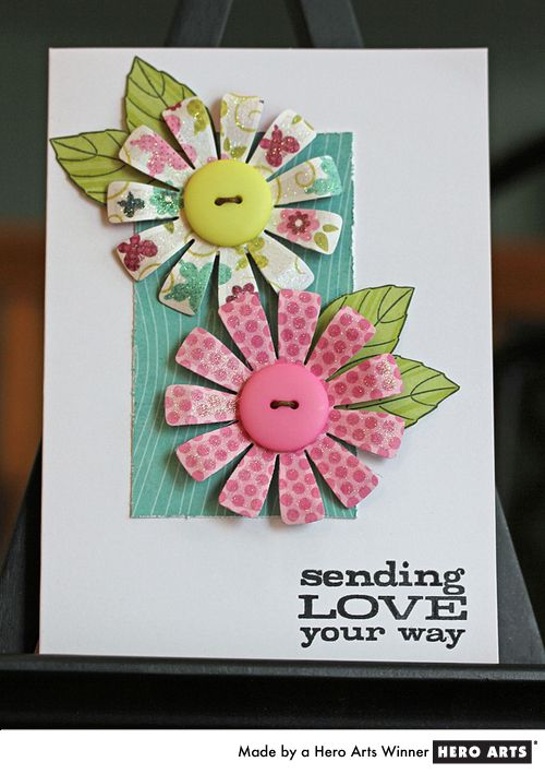 CAS card - Love the colors and flowers - can do this with my supplies.