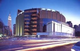 To see a concert at Madison square gardens New York.