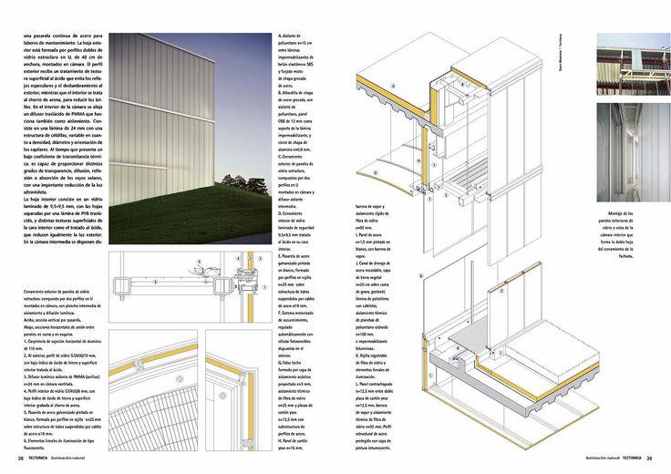 Doble página correspondiente alproyecto de Steven Holl Architects para la ampliación del Museo Nelson-Atkins. Detalle.