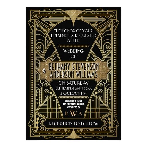 Art Deco Wedding Invitation: 29 Best Images About Art Deco Design Elements On Pinterest
