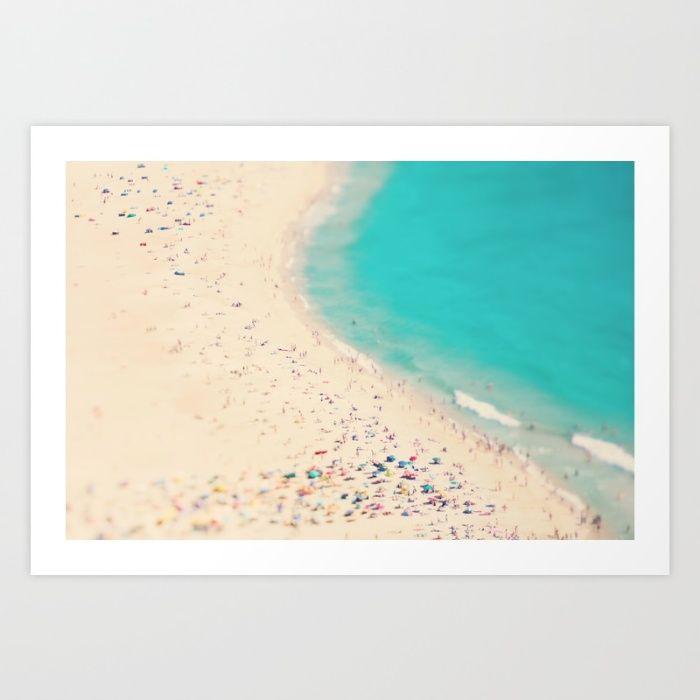 beach, aerial beach photo, sea, ocean, people, umbrellas, turquoise, aqua, colorful