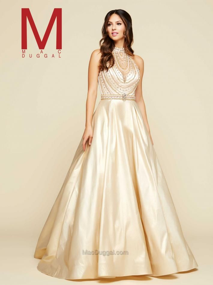 Blus Tones Gold Ball Gown | Mac Duggal 76952H https://www.macduggal ...
