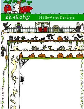 Halloween Borders / Frames     $