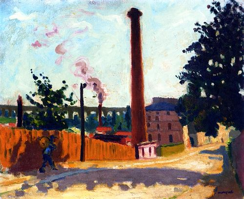 Arceuil, the Factory and Aqueduct  Albert Marquet