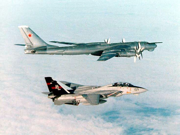 Tupolev Tu-142 Bear, Intercepted by an F-14 Tomcat