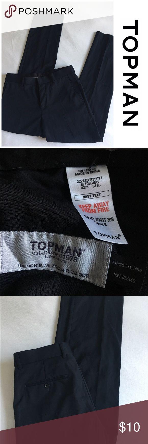 """Topman Navy dress pants Topman black dress pants - inseam 31"""" Topman Pants Dress"""