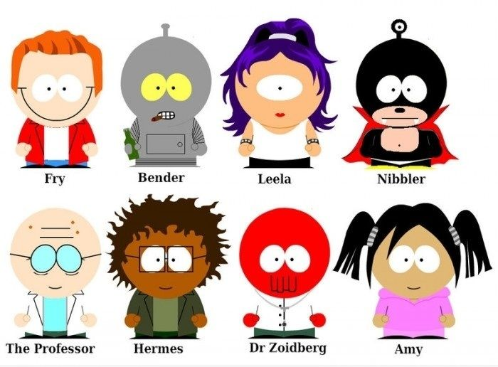 Futurama South Park - funny pictures - funny photos - funny images - funny pics - funny quotes - #lol #humor #funny