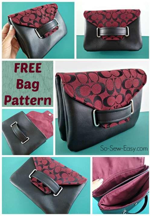 6d2416f36d73c The Envelope Clutch Bag - free bag pattern