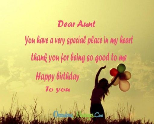 Birthday Wishes and Messages for Aunt