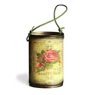 vintage decoupge tin