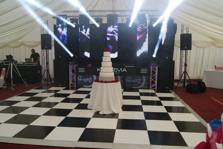 DJ Wedding, Asian Wedding, Lighting, Led Screen, Black/White Dance Floor / DJ Booth