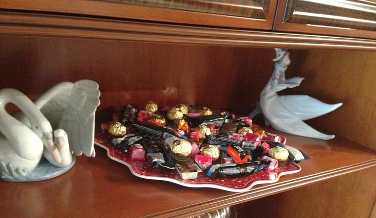 Bandeja de turrones y dulces navideños!