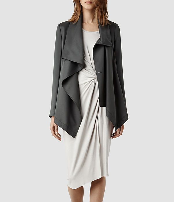 Womens Aiko Monument Jacket (Grey) | ALLSAINTS.com, Fall 2014