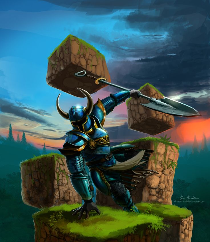 Got the urge to do some fan art for Shovel Knight! I played through it a while ago with a friend of mine as well as the expansion, and am looking forward to the new content yacht club is working...
