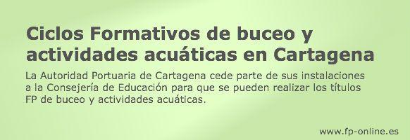 Ciclos Formativos de buceo y actividades acuáticas en Cartagena