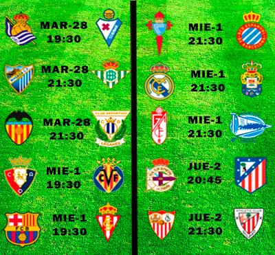 La Liga Full: Horario Jornada 25