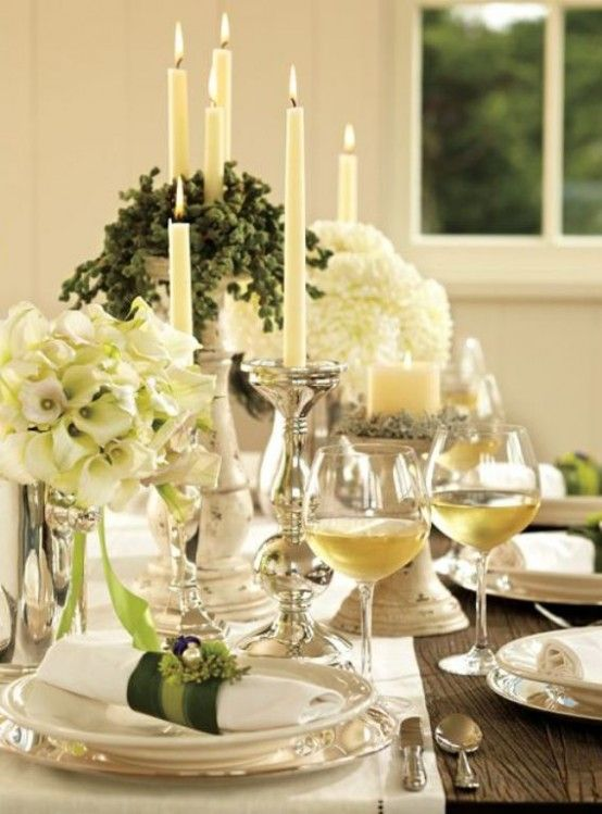 Pinterest Beautiful Table Settings Settings And White Flowers
