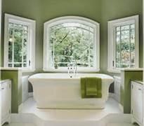 white and olive green bathroom...