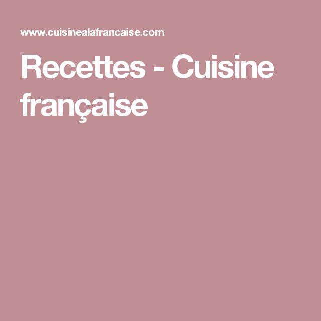 Recettes - Cuisine française