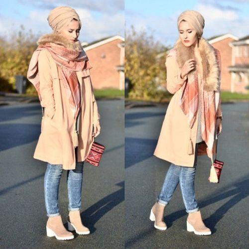 turban style fall look, Fall stylish hijab street looks http://www.justtrendygirls.com/fall-stylish-hijab-street-looks/