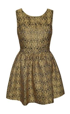 Monaco Gold Baroque Dress $69.95  www.littlepartydress.com.au