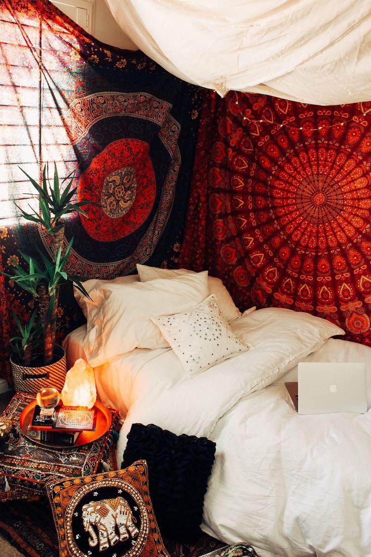 Chakra box bohemian roombohemian decorbedroom redbedroom stylesbedroom ideasroom